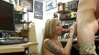 Hot blonde pounded by nasty pawn keeper at the pawnshop