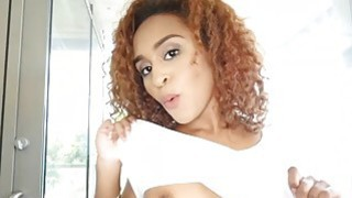 Tiny black teen Nami Dahlia loves giant cock