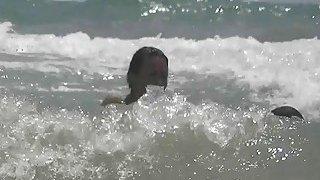 Nudist beach voyeur preys on naked young hotties