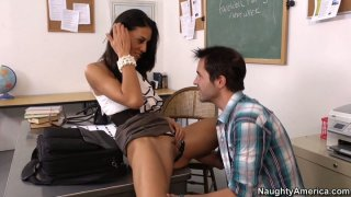 Clever student Lyla Storm gets a reward in the form of ardent fuck