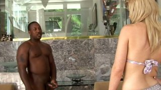 Chubby blonde milf Rachael Rains wants to fuck black dude