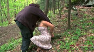 Busty Dia Zerva getting her pussy fucked in the forest