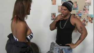 Wonderful dick sucker Mary pleases a stud in the dirty garage