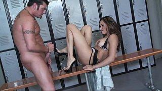 Nataly Rosa enjoys locker room creampie
