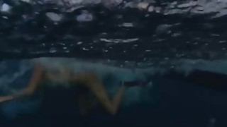 Badass babes spear fishing while naked and visit the crocs