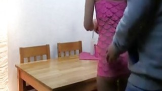 German teen fucked on the kitchen table