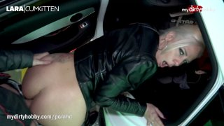 Public sex and cumshot in German car park