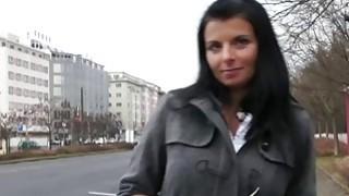 Attractive amateur bangs in public pov brunette czech