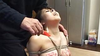 Subtitles Japanese BDSM hot wax play