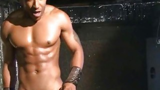 Cock engulfing session for playgirl spectators