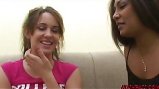Lesbian Kinzie eaten out by lesbian babe and fingering