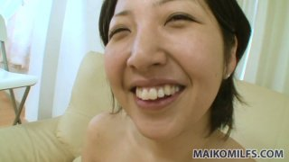 Pink dildo and tough doggy what Japanese chick Emi Ishibashi wants