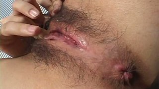 Shy amateur Gonzo is ready to show her tight furry snatch