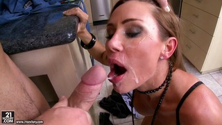 Filthy hoe Sky Taylor gets the perfect fuck on the twat that she always cra...
