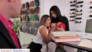 Ella Knox and Violet Myers Fuck their boss