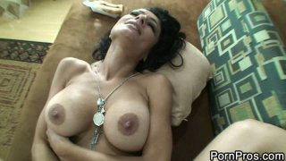 Busty brunette milf Persia Pele get fat cock deep in the pussy