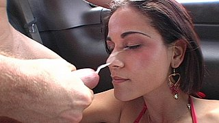 Miss Raquel gets her ass fucked, face spermed